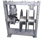 Wire winders of suspended scaffolding