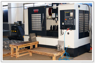 machining center for suspended platform