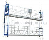 double suspended platform help installing glass curtain wall