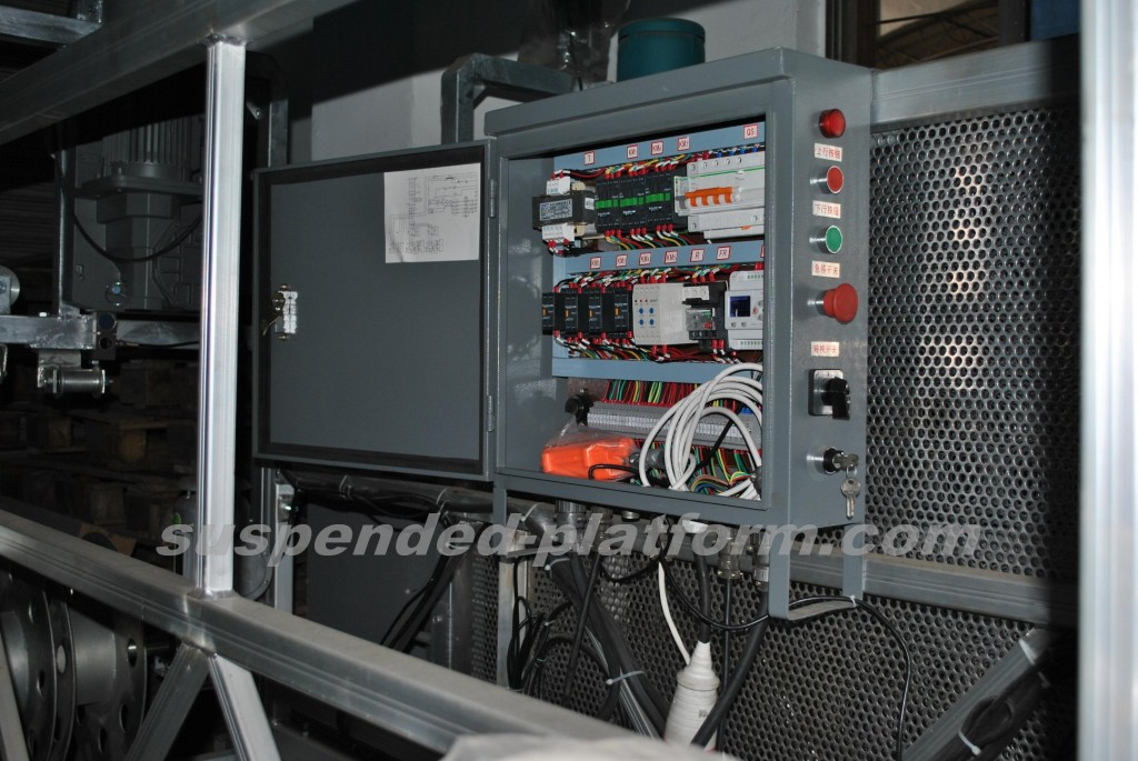 electrical box of working platform for BMU